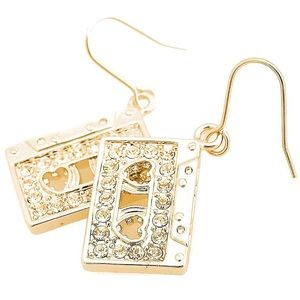 Urban Outfitters Gold cassette tape Earrings